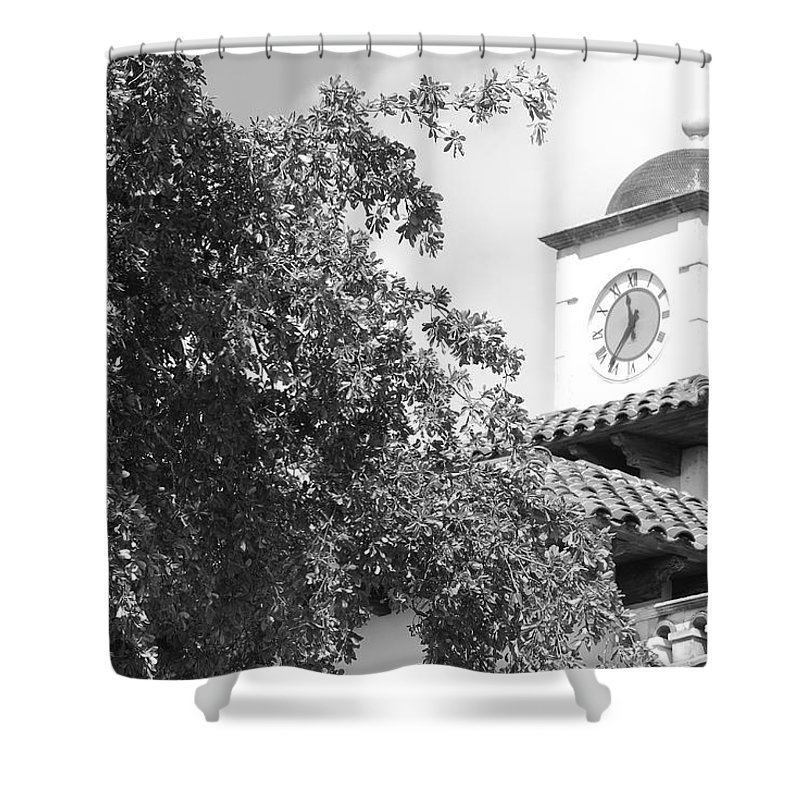 Clock Shower Curtain featuring the photograph Clock Tower by Rob Hans