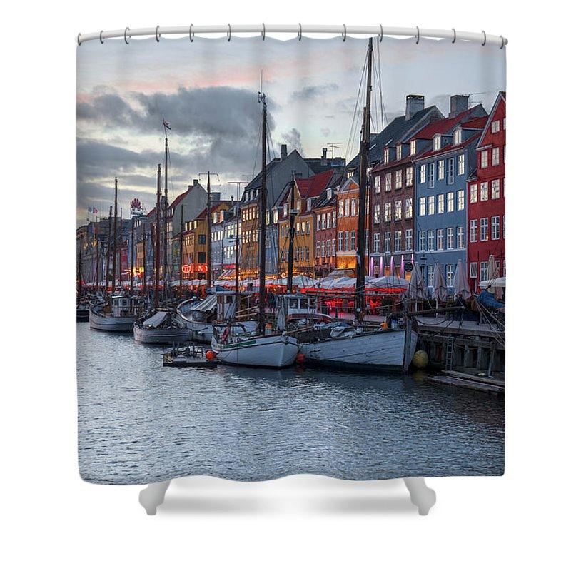 Nyhavn Shower Curtain featuring the photograph Copenhagen - Denmark by Joana Kruse