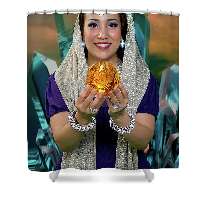 Goddess Shower Curtain featuring the photograph Crystal Goddess by David Clanton