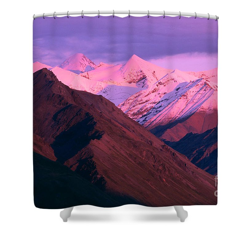 Aerial Shower Curtain featuring the photograph Denali National Park by John Hyde - Printscapes