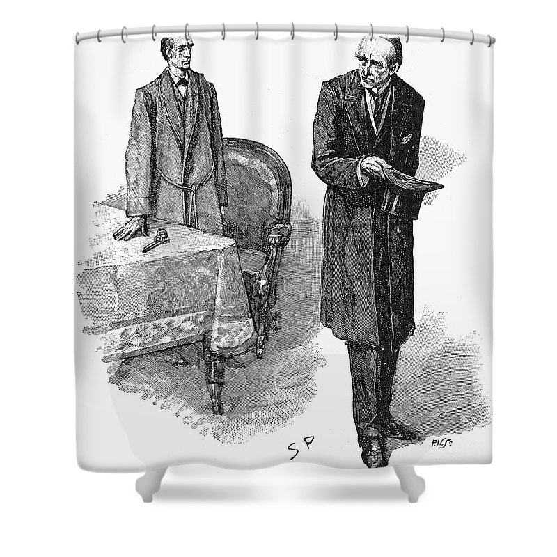 1893 Shower Curtain featuring the photograph Doyle: Sherlock Holmes by Granger