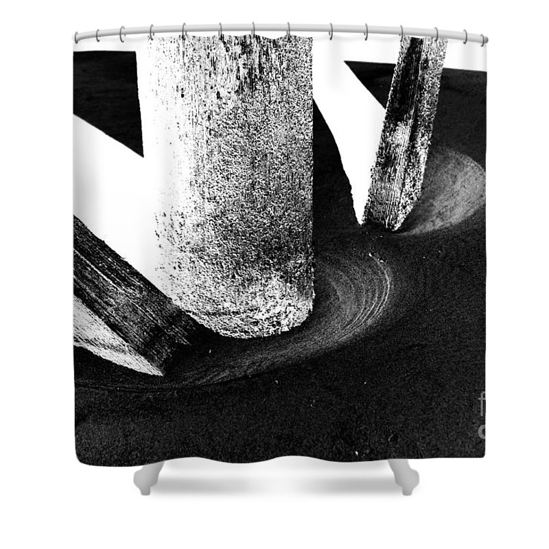 Shower Curtain featuring the photograph Erosion by Jamie Lynn