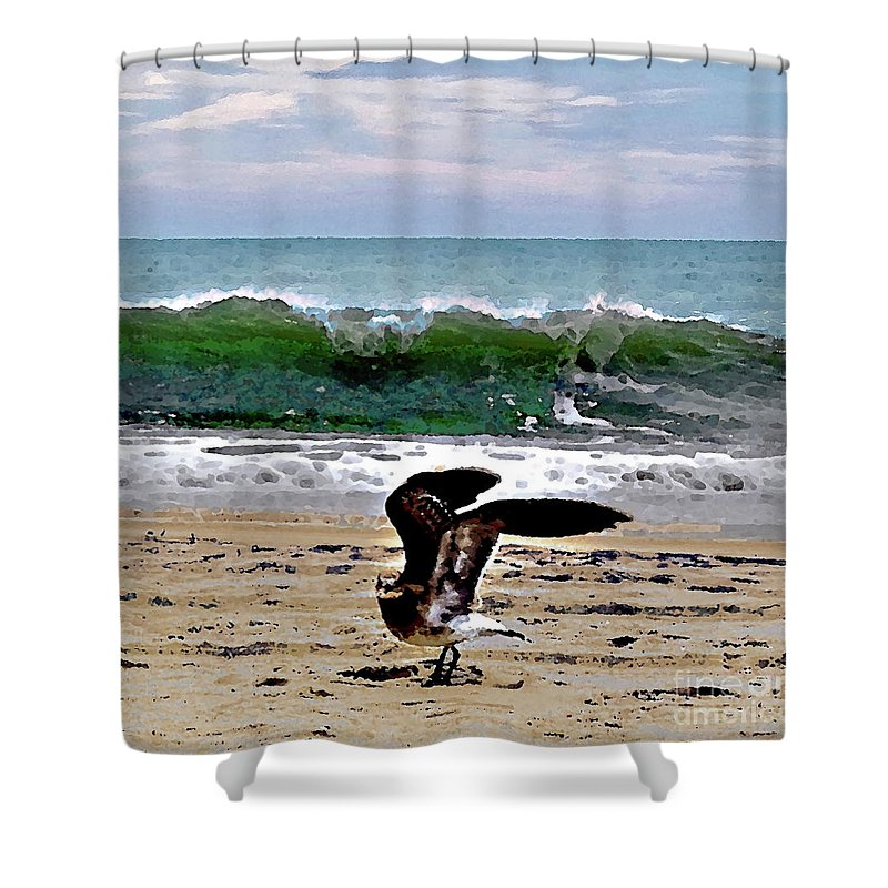 Shower Curtain featuring the photograph Expecting To Fly by Anthony Pelosi