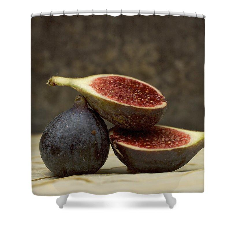 Vitamins Shower Curtain featuring the photograph Figs by Bernard Jaubert