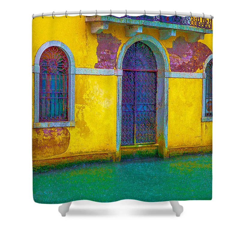 Italy Shower Curtain featuring the photograph Grand Canal Under The Rain by Jean-luc Bohin