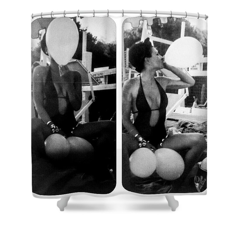 Autoritratto Shower Curtain featuring the photograph Hammershoi by Alessandra Gianfrate