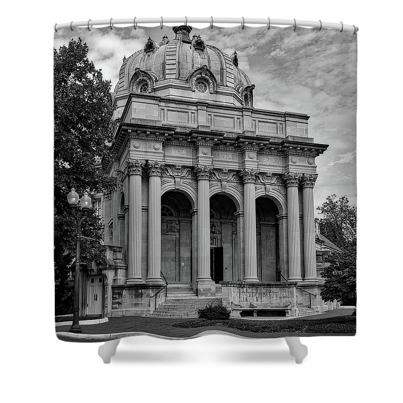Handley Library Shower Curtain featuring the photograph Handley Library - Winchester Virginia by Mountain Dreams