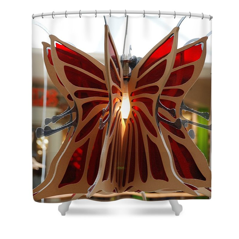 Butterfly Shower Curtain featuring the photograph Hanging Butterfly by Rob Hans