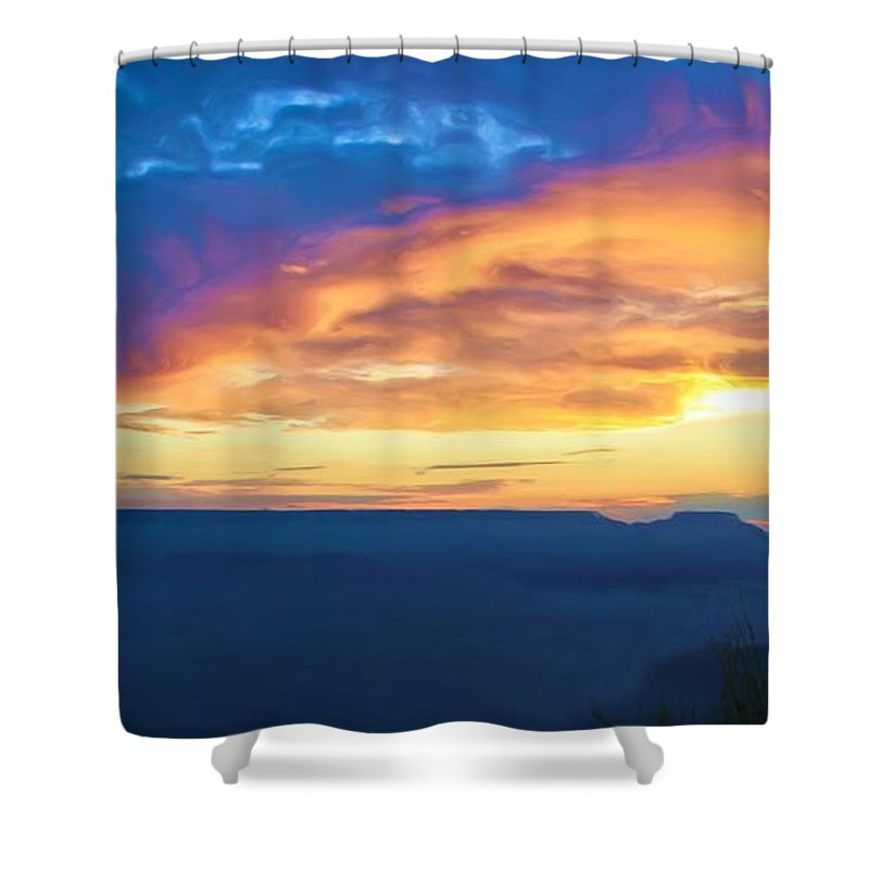 Grand Canyon Shower Curtain featuring the photograph Here Comes The Sun by Heidi Smith