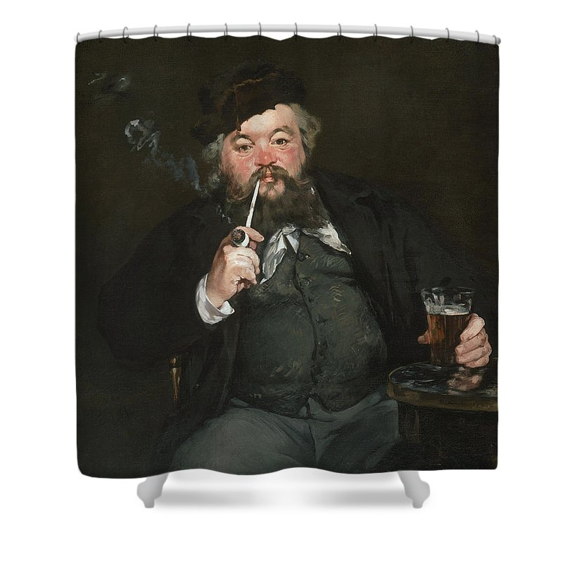 Beard Shower Curtain featuring the painting Le Bon Bock by Edouard Manet