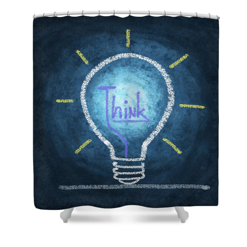 Art Shower Curtain featuring the photograph Light Bulb Design by Setsiri Silapasuwanchai