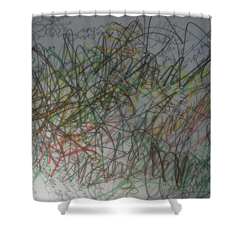 Shower Curtain featuring the painting Logos 2012 by Youngeun Jang