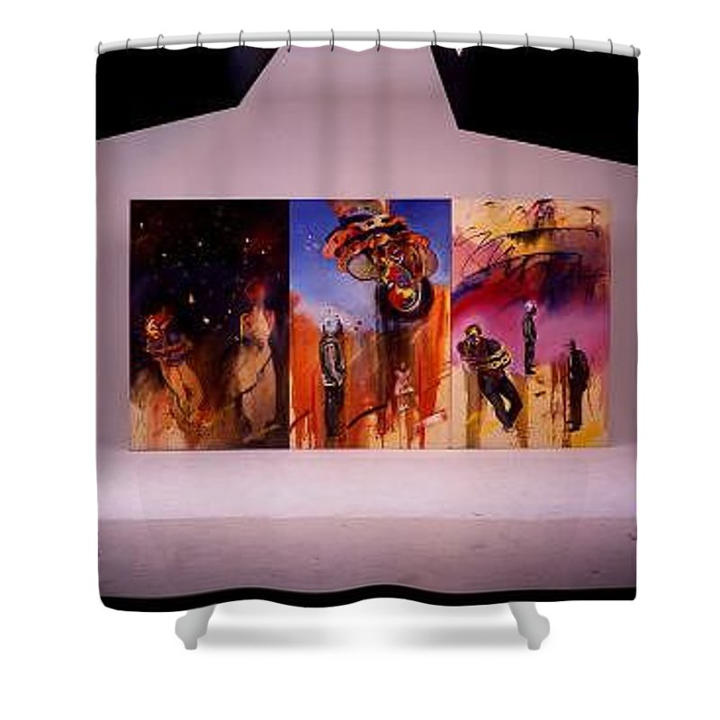 Canvas Shower Curtain featuring the painting Love Hurts by Charles Stuart