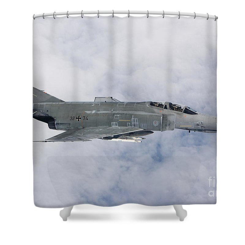 Germany Shower Curtain featuring the photograph Lufwaffe F-4f Phantom by Gert Kromhout
