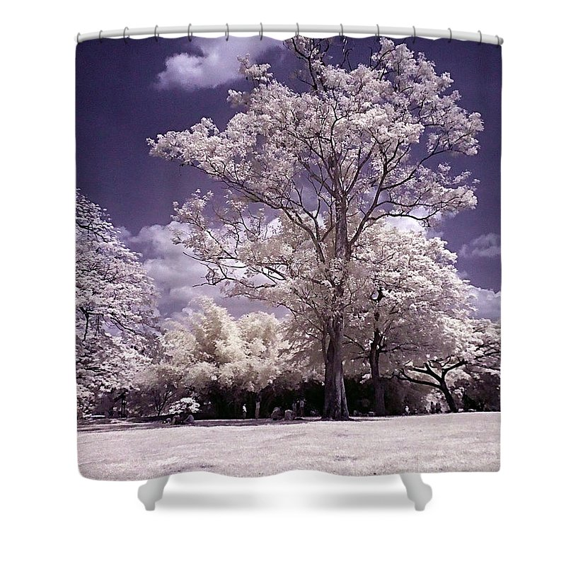 Infrared Shower Curtain featuring the photograph Magic Garden by Galeria Trompiz