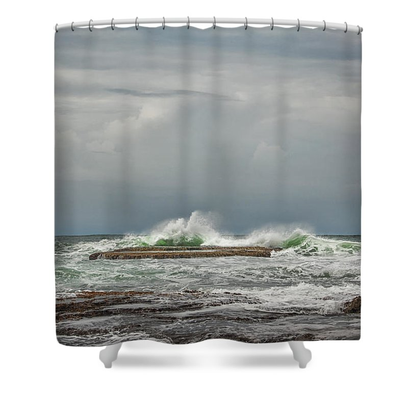 Caribbean Shower Curtain featuring the photograph Manzanillo, Costa Rica by Artist Jacquemo