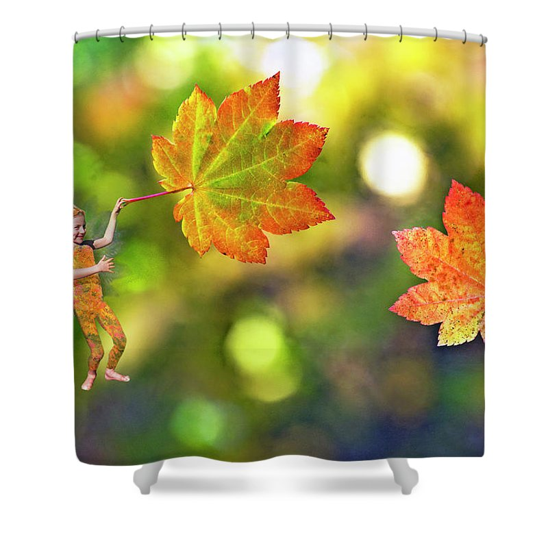 Fairy Shower Curtain featuring the photograph Maple Leaves by Buddy Mays