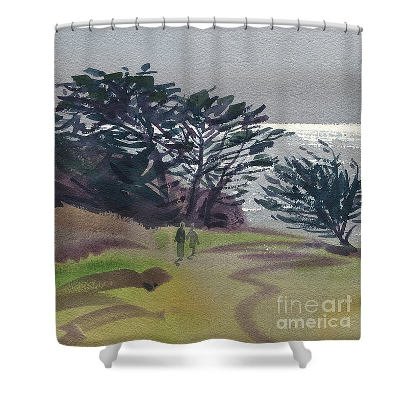 Plein Air Shower Curtain featuring the painting Miramonte Point 1 by Donald Maier