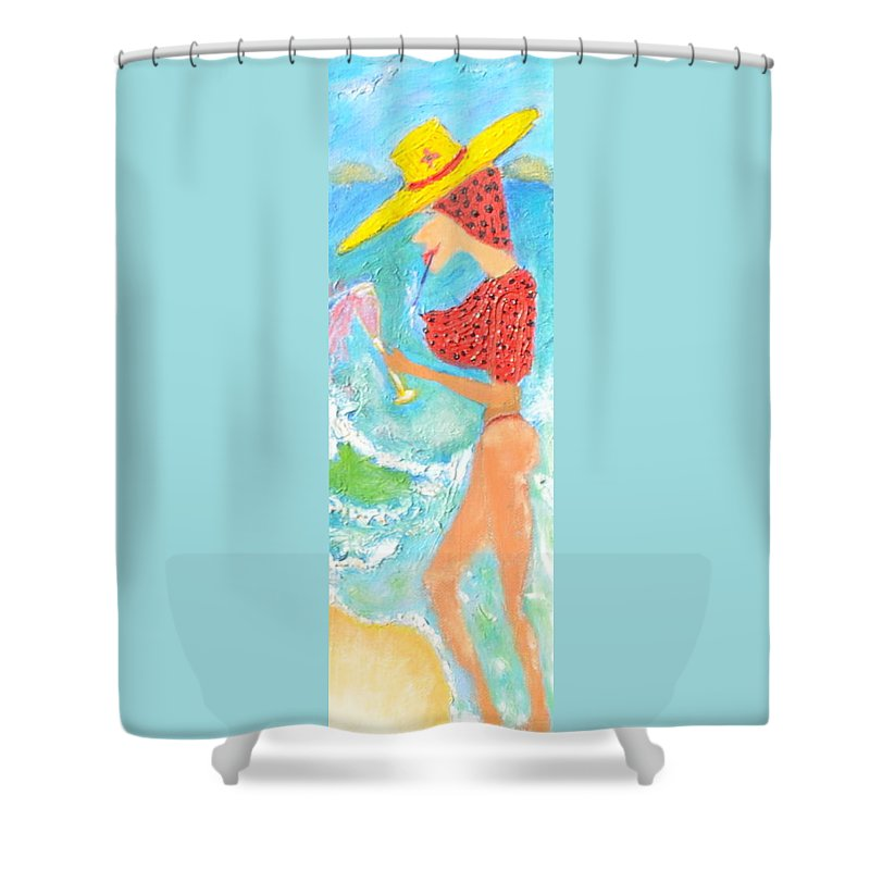 Painting Shower Curtain featuring the painting Miss Boobiair by Richard Benson