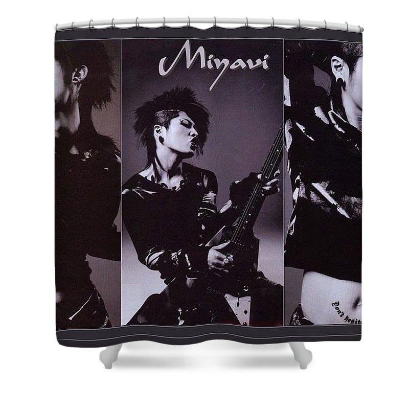 Miyavi Shower Curtain featuring the digital art Miyavi by Mery Moon