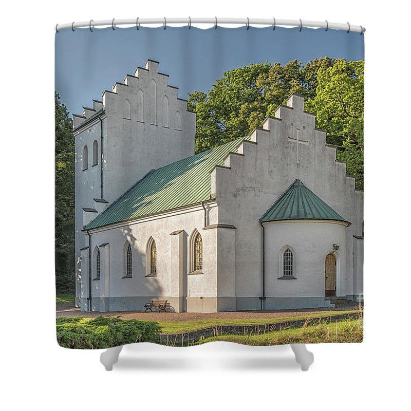 Molle Shower Curtain featuring the photograph Molle Chapel by Antony McAulay