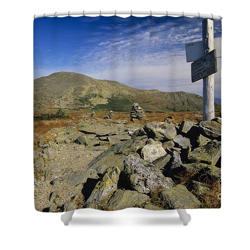 Mount Washington Shower Curtain featuring the photograph Mount Washington - White Mountains New Hampshire Usa by Erin Paul Donovan