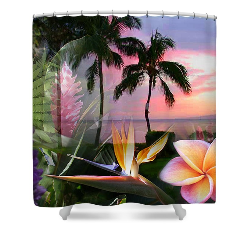 Bird Of Paradise Shower Curtain featuring the photograph Natural Beauty by Angie Hamlin
