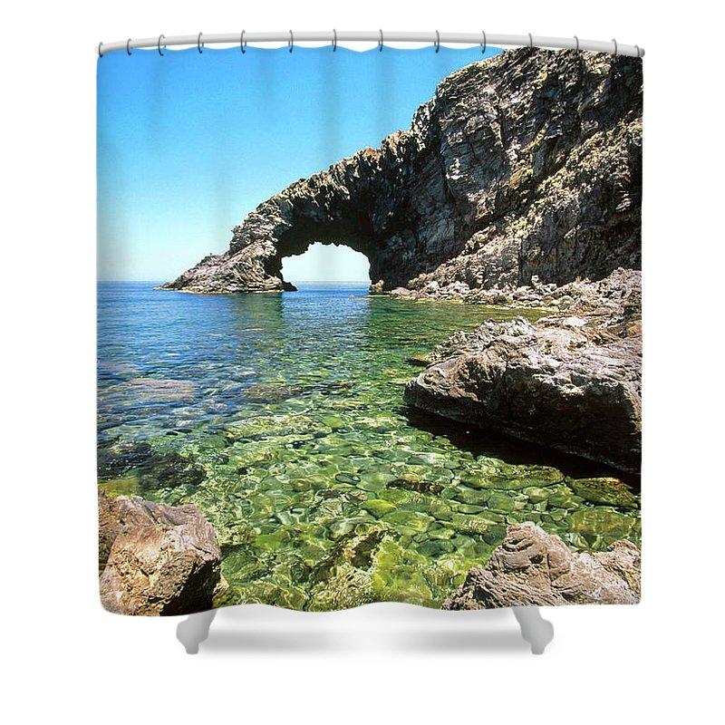 Ocean Shower Curtain featuring the digital art Ocean by Mery Moon