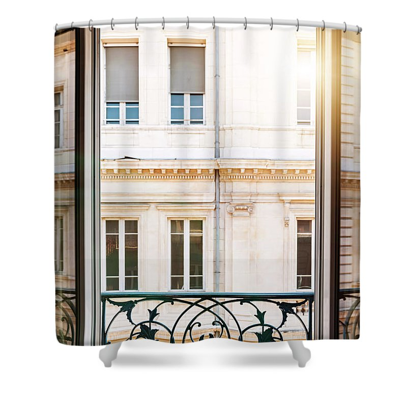 Window Shower Curtain featuring the photograph Open Window In Toulouse by Elena Elisseeva