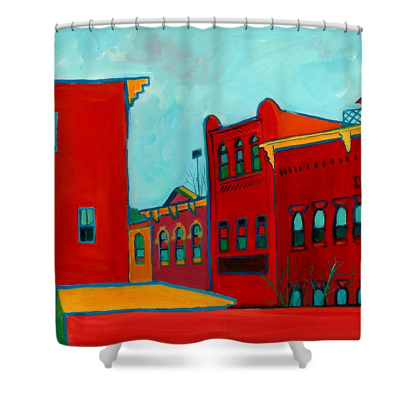 City Shower Curtain featuring the painting Opera House by Debra Bretton Robinson