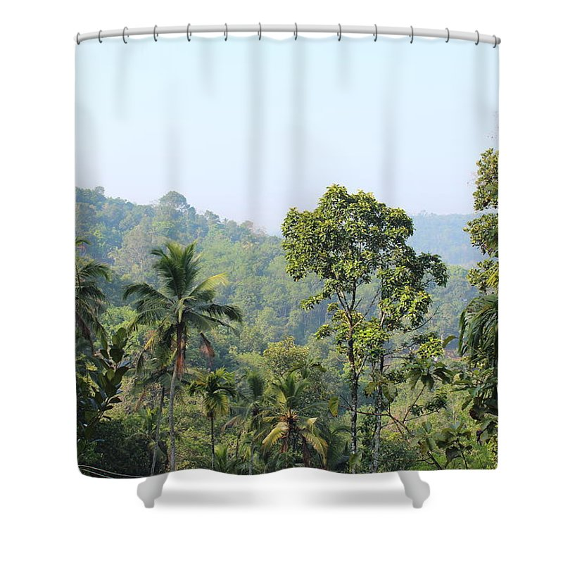 Greeneary Shower Curtain featuring the photograph Photo by Manoj John