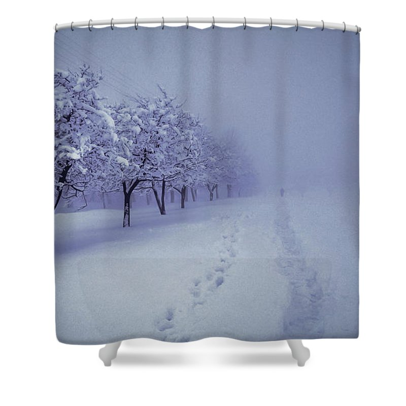 Photographer Shower Curtain featuring the photograph Photographer by Lyudmila Prokopenko