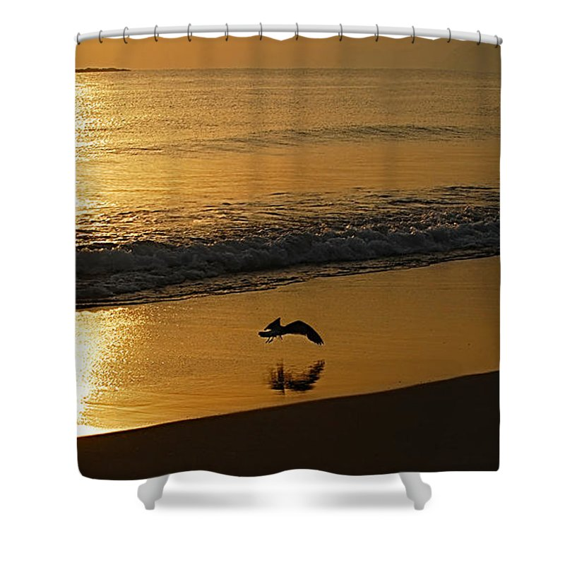 Playa Huequito Shower Curtain featuring the photograph Playa Huequito by Galeria Trompiz