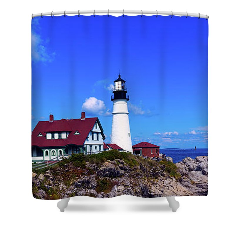 Portland Head Light Shower Curtain featuring the photograph Portland Head Light by Library Of Congress