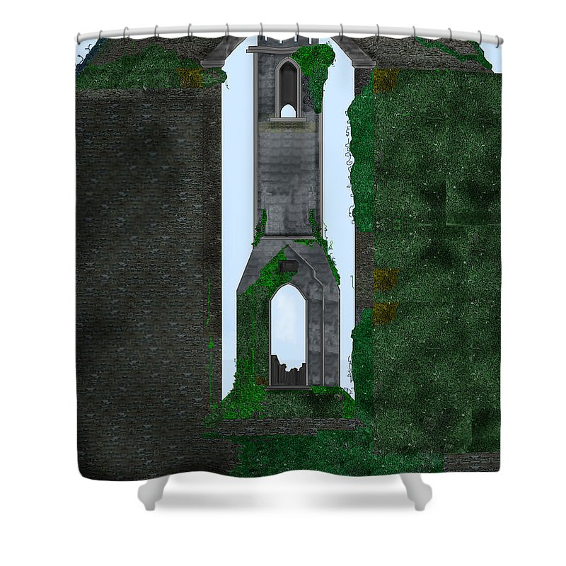 Ireland Shower Curtain featuring the painting Quint Arches in Ireland by Anne Norskog