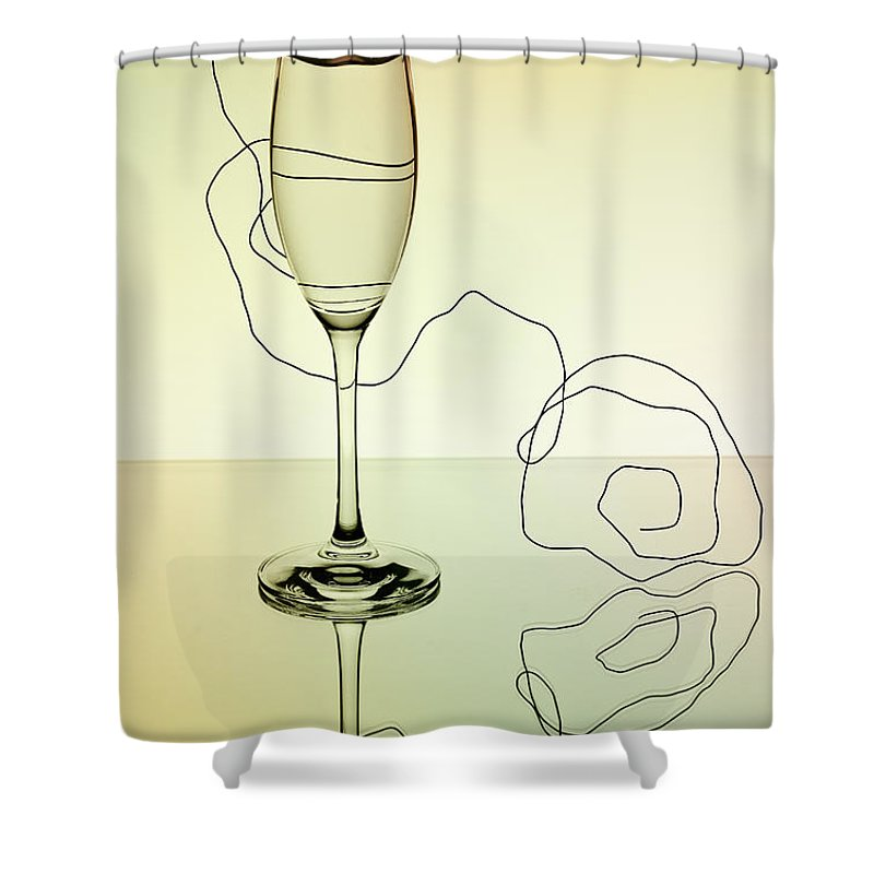 Glass Shower Curtain featuring the photograph Reflection by Nailia Schwarz