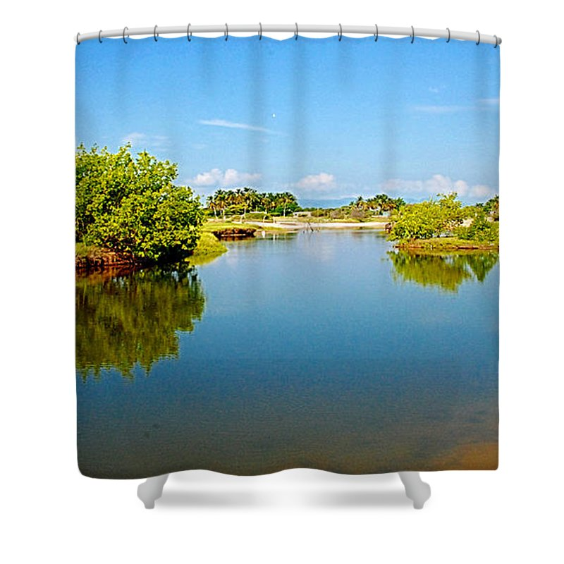Reflects Shower Curtain featuring the photograph Reflects by Galeria Trompiz