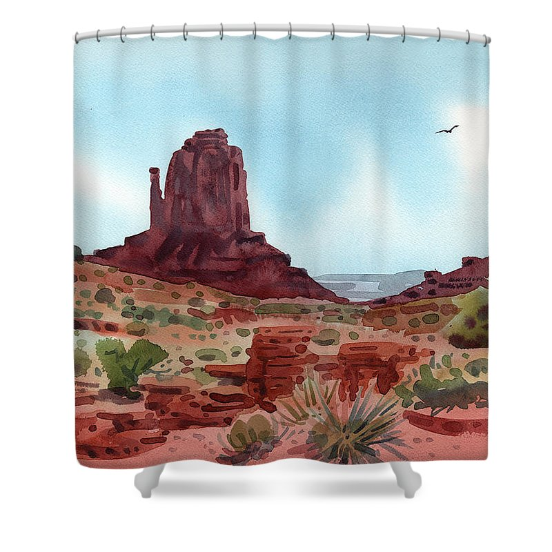 Right Mitten Shower Curtain featuring the painting Right Mitten by Donald Maier