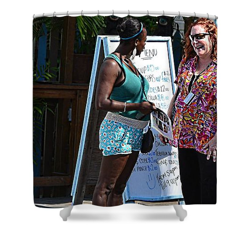 Shower Curtain featuring the photograph Roatan Life by Gianni Bussu