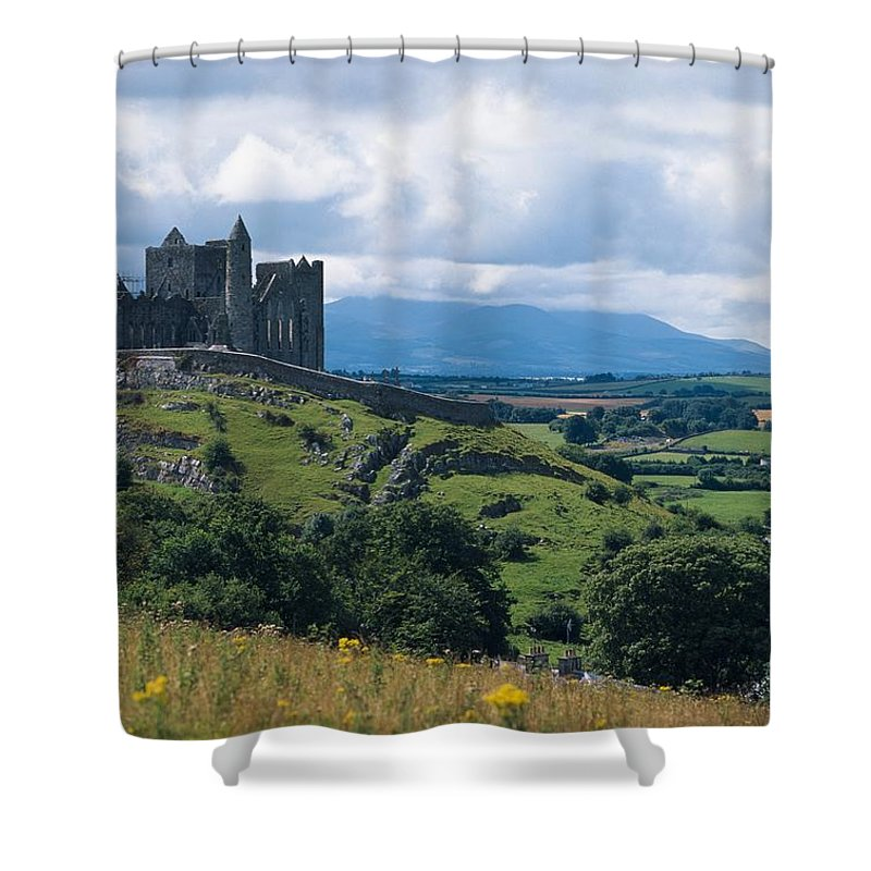 Outdoors Shower Curtain featuring the photograph Rock Of Cashel, Co Tipperary, Ireland by The Irish Image Collection