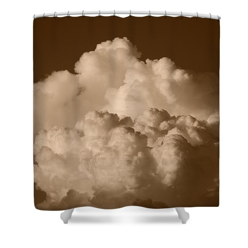 Sepia Shower Curtain featuring the photograph Sepia Clouds by Rob Hans