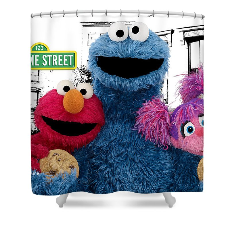 Sesame Street Shower Curtain Featuring The Photograph By