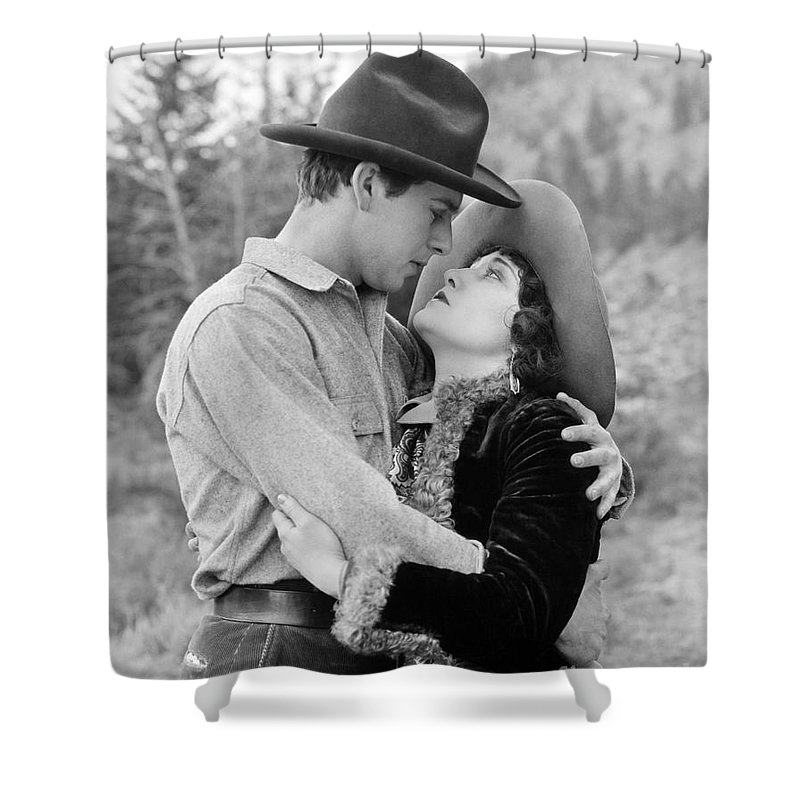 -kissing Hand- Shower Curtain featuring the photograph Silent Still: Hand Kissing by Granger