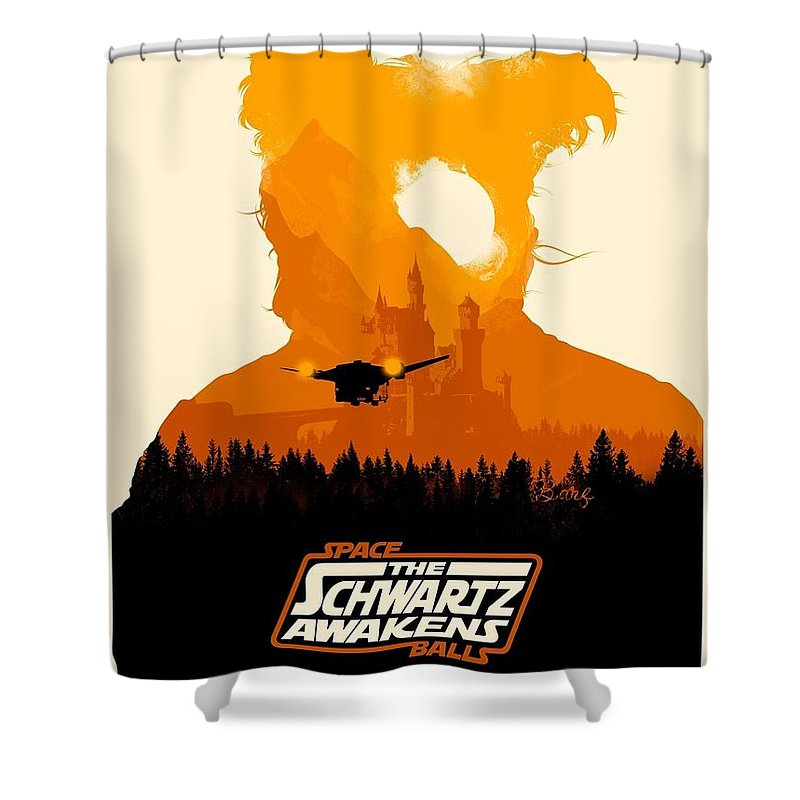 Shower Curtain Featuring The Digital Art Space Balls By