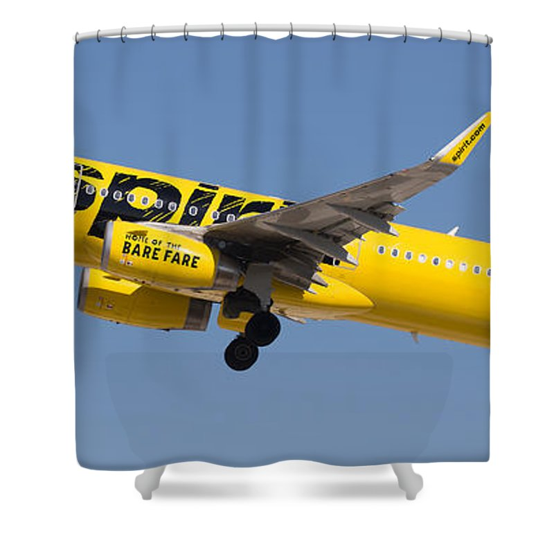 Spirit Shower Curtain featuring the photograph Spirit Airline by Dart and Suze Humeston
