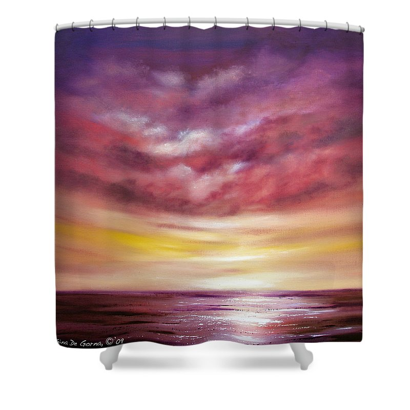 Square Shower Curtain featuring the painting Splendid by Gina De Gorna