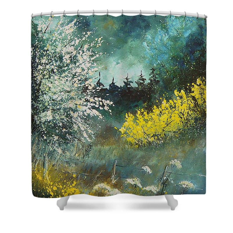 Spring Shower Curtain featuring the painting Spring by Pol Ledent
