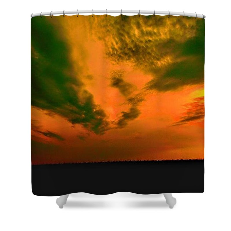 Sunset Shower Curtain featuring the photograph Sunset by Curtis Tilleraas