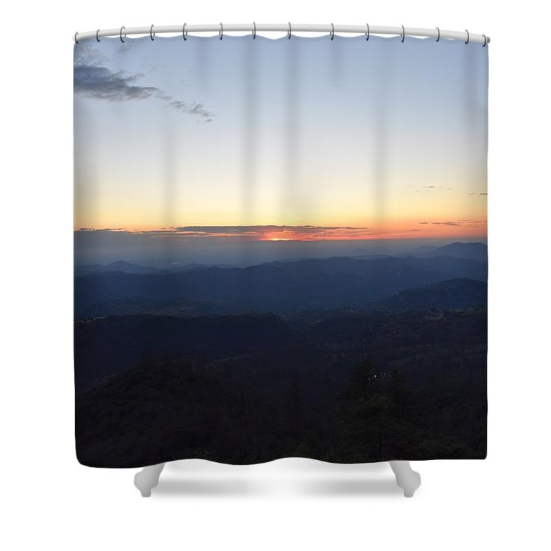 Alpine Shower Curtain featuring the photograph Sunset Over Kings Canyon In The Southwest Sierra Nevadas by Will Sylwester