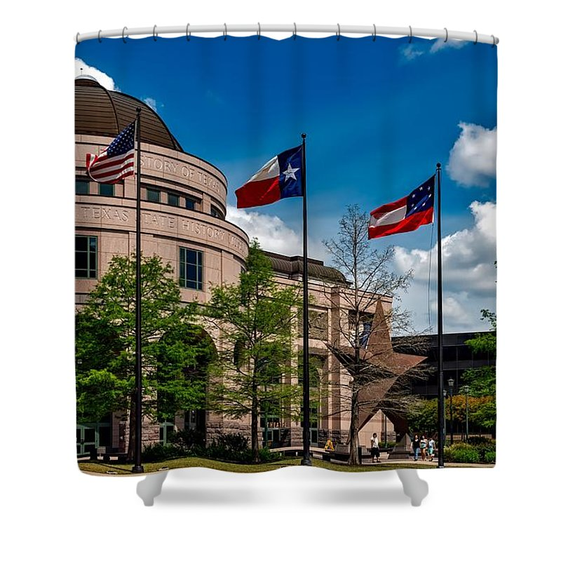 Bullock Texas State History Museum Shower Curtain featuring the photograph The Bullock Texas State History Museum by Mountain Dreams